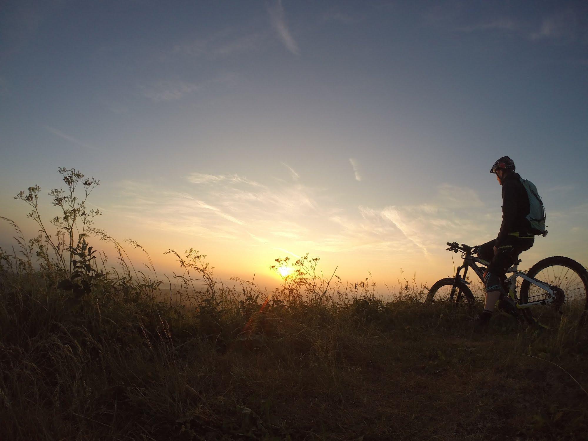 Mountainbiker auf dem Doernberg