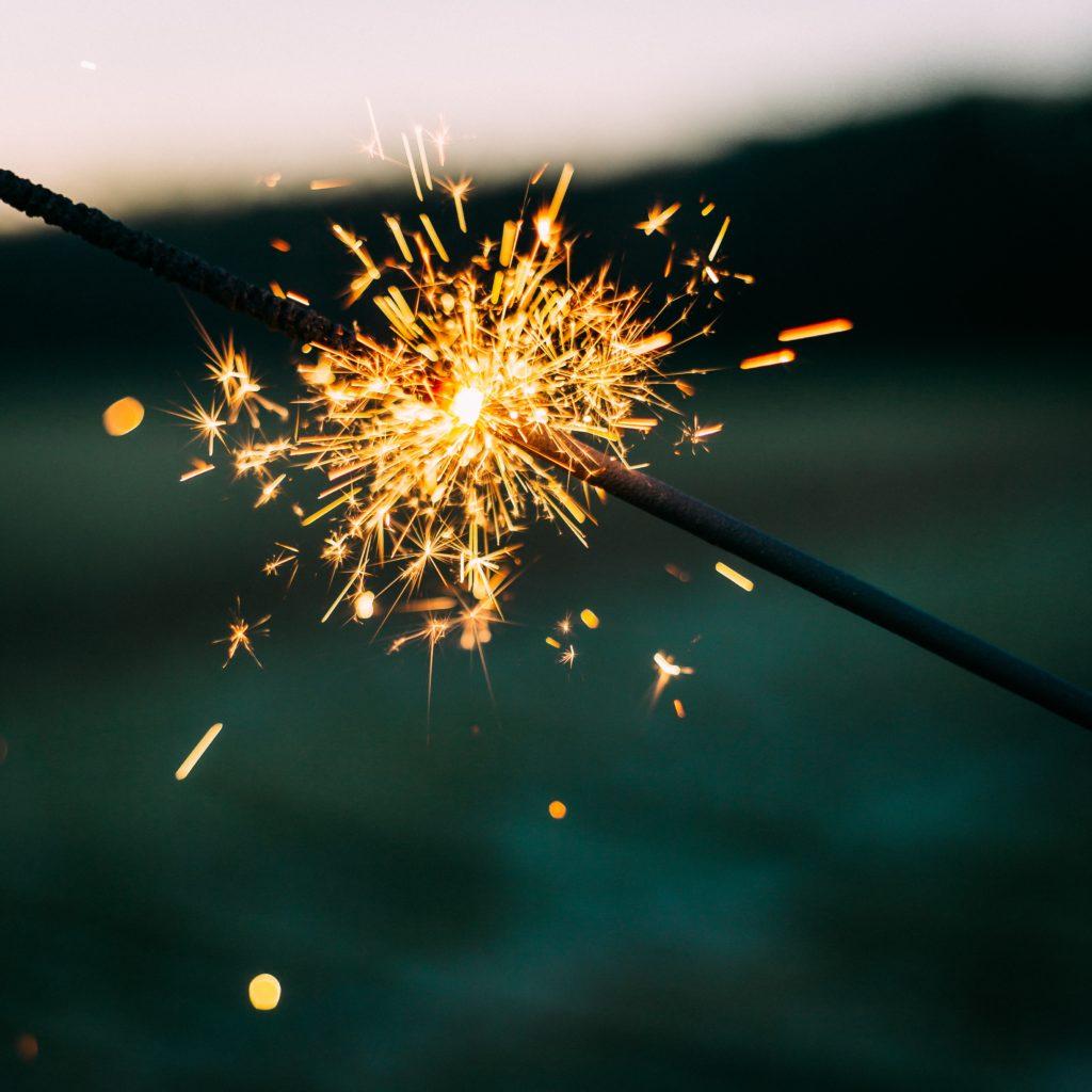 Wunderkerze zum Neuen Jahr